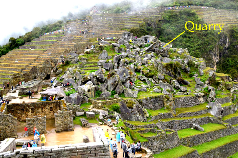 Machu picchu the geological landscape geopostings for Landscape rock quarry alberta
